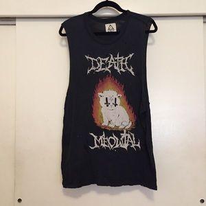 Death Meowtal muscle tee - rare